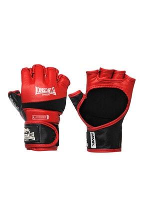 LONSDALE MMA Deri Siyah-Kırmızı Amatör Maç Boks Eldiveni (30484)