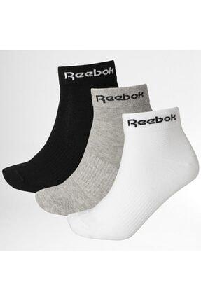 Reebok Unisex Çok Renkli 3 Farklı Renk 3 Çift Çorap Gh8168
