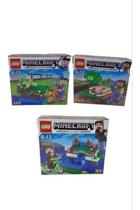 MINECRAFT Lego Yapım Oyuncağı Seti 196 Parça 3'lü Rs10-145.