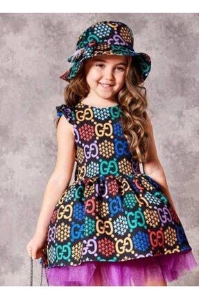 Riccotarz Kız Çocuk Rainbow Gece Renkli Elbise
