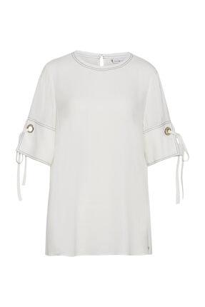 Tommy Hilfiger Kadın Beyaz Gömlek Naomi Top Ss WW0WW23976