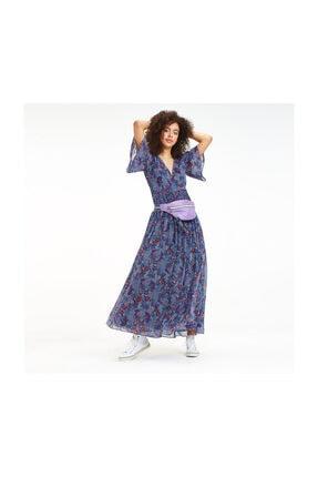 Tommy Hilfiger Kadın Mavi Elbise Tjw Floral Festival Maxi Dress DW0DW06829