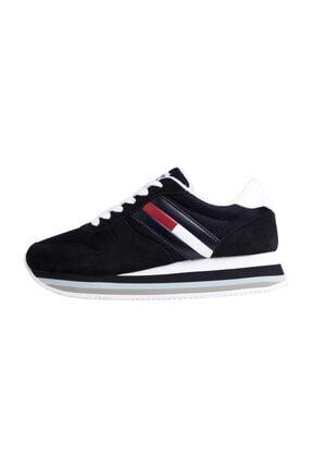 Tommy Hilfiger Kadın Mavi Sneakers Retro Tommy Jeans Sneaker EN0EN00486