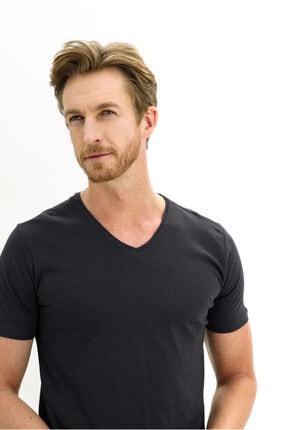 Kiğılı V Yaka Slim Fit Tişört