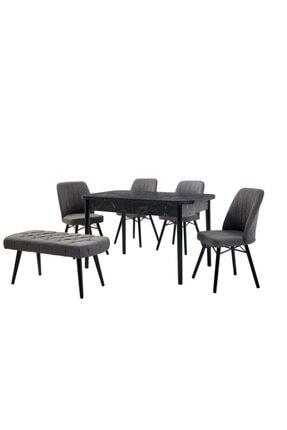 yazgan masa sandalye Mermer Baskılı Masa Sandalye Bank Takım