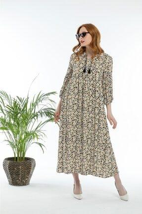 Pitti Kadın Püsküllü Uzun Turvakar Kollu Elbise