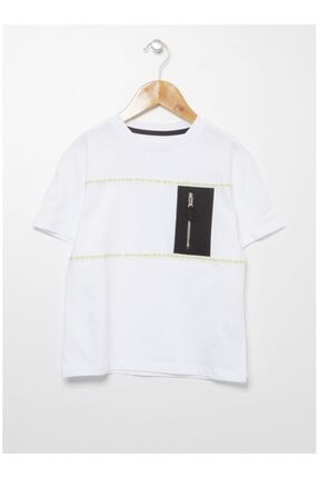 LİMON COMPANY Erkek Çocuk Beyaz  T-Shirt