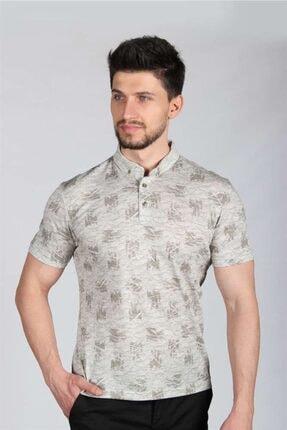 İgs Erkek Haki Standart Polo Yaka Tişört