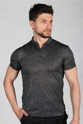 İgs Erkek Siyah Standart Polo Yaka Tişört