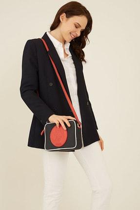 U.S. Polo Assn. Lacıvert-kırmızı Kadın Postacı Çantası Us8210