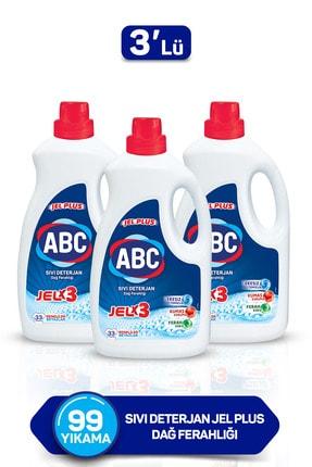 ABC Sıvı Deterjan Jel Plus Dağ Ferahlığı 33 Yıkama 3'lü Set