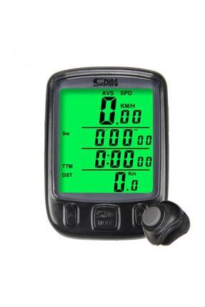 Sunding Bisiklet Km Hız Göstergesi Sayacı Saat Hız Ölçer Su Geçirmez Lcd
