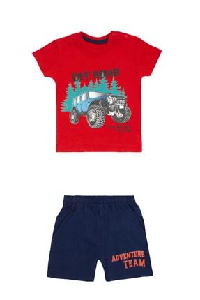 Pattaya Kids Erkek Bebek Kırmızı Baskılı Kısa Kollu Takım 2li Pb21s505-2055