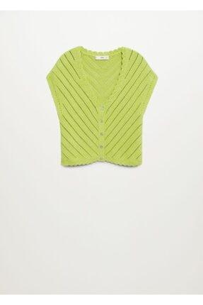 MANGO Woman Kadın Yeşil Bluz