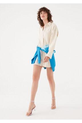 Mavi Terranean Bej Oversize Tunik Elbise 131128-33267