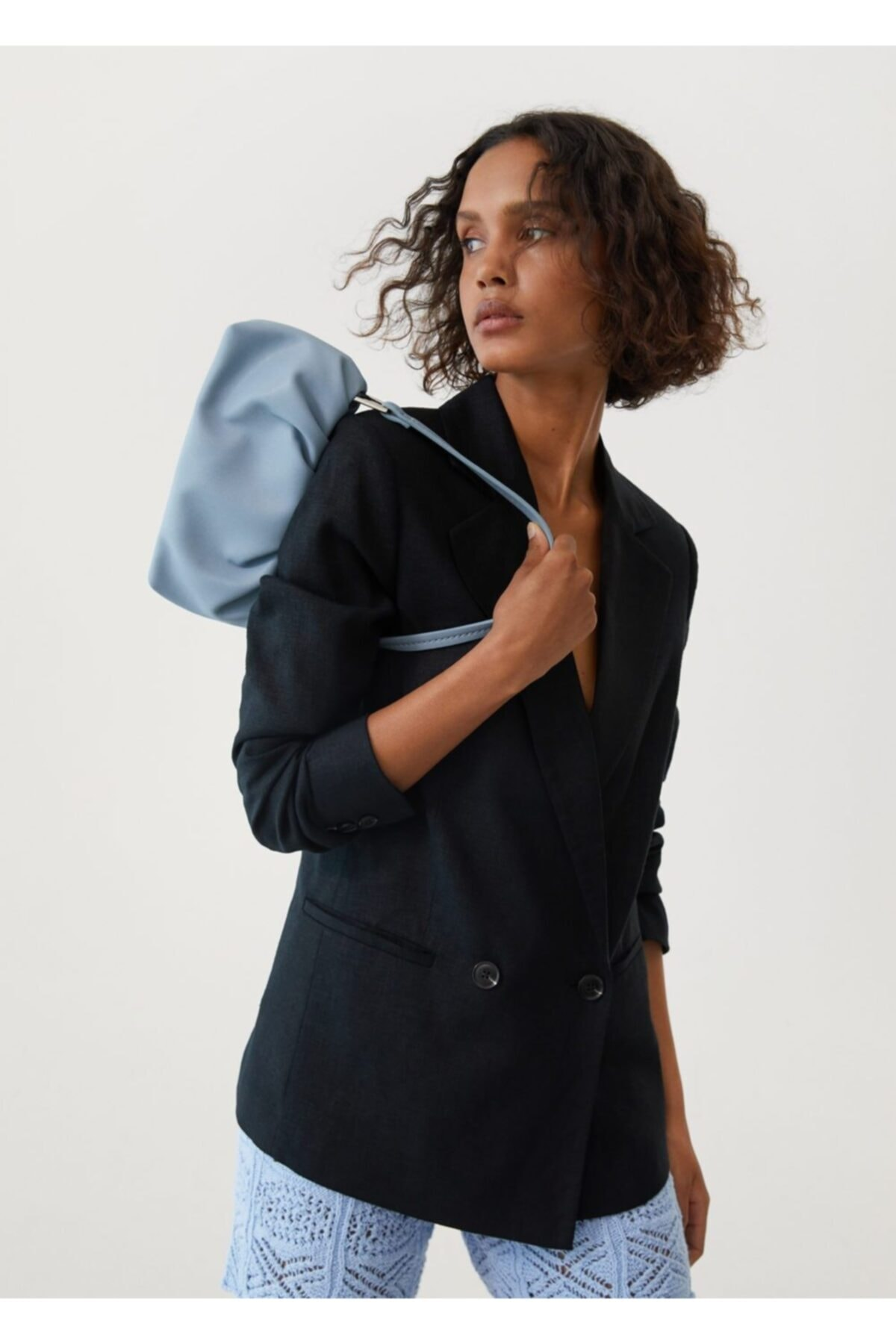 MANGO Woman Kadın Gök Mavisi Çanta 2