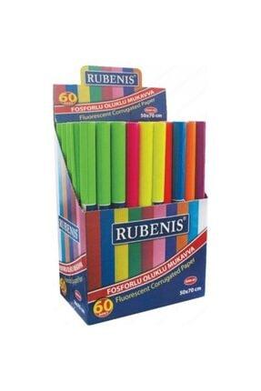 Rubenis Oluklu Mukavva 50x70 Cm Renkli 4'lü Fosforlu Karışık Renk