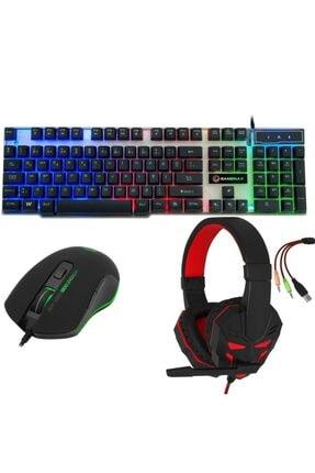 FRISBY Gaming Oyuncu Ekipmanları Seti Fhp-g1414b + Fk-g508qu + Fm-g3315k