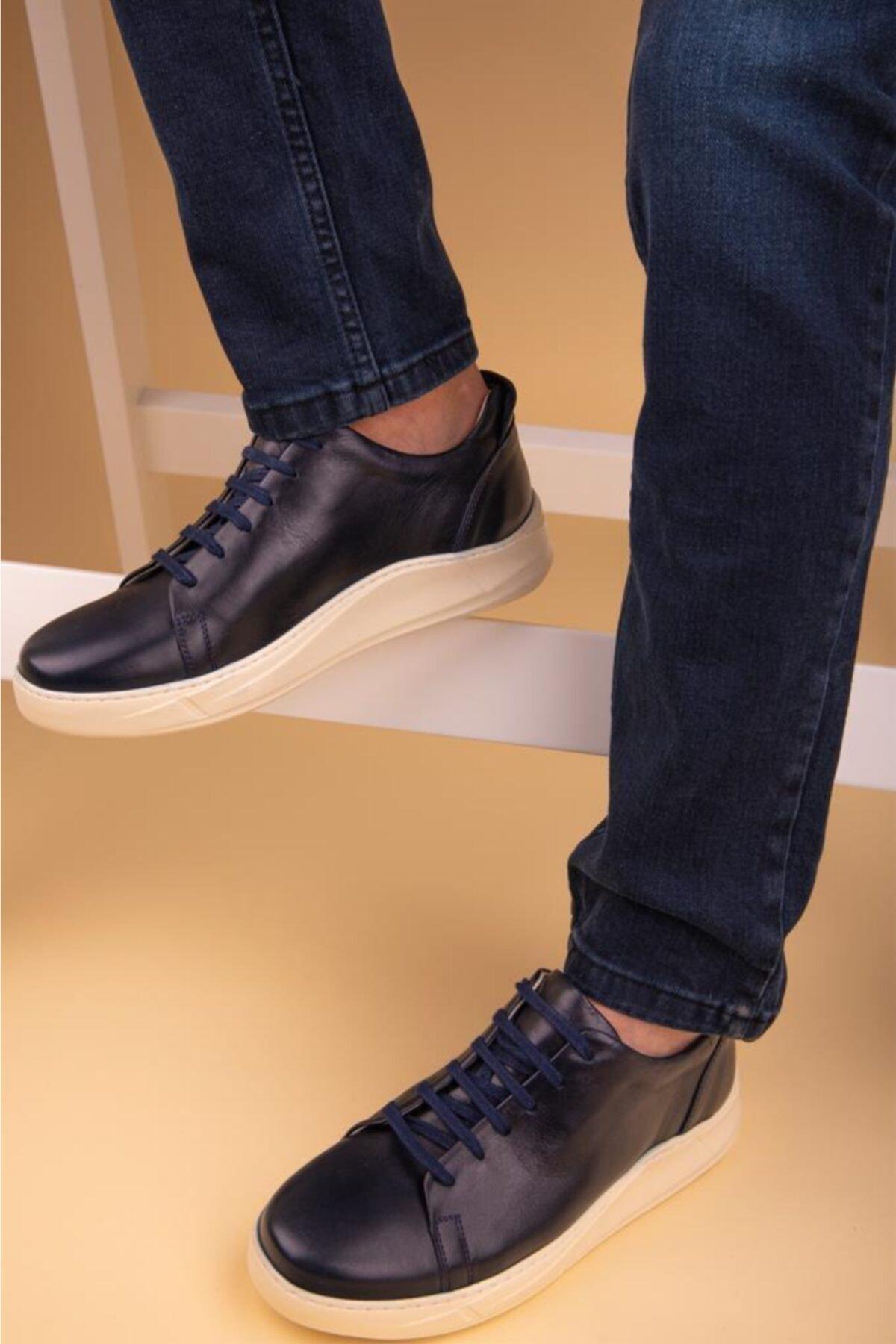 Calvano Hakiki Deri Erkek Sneaker 1