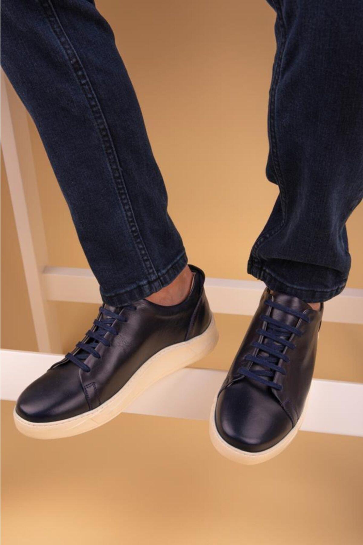 Calvano Hakiki Deri Erkek Sneaker 2