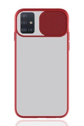 MobilCadde Samsung Galaxy A51 Uyumlu Kırmızı Silikon Kılıf