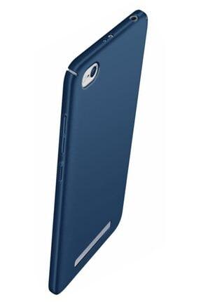 MobilCadde Xiaomi Redmi 4a Tam Kenar Koruma Lacivert Rubber Kılıf