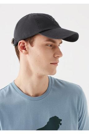 Mavi Mühür Logo Gri Şapka