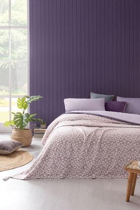 Yataş Bedding Foglia Çok Amaçlı Örtü %100 Pamuklu Jakarlı Yatak Örtüsü/çok Amaçlı Örtü Lila 220x240 Cm