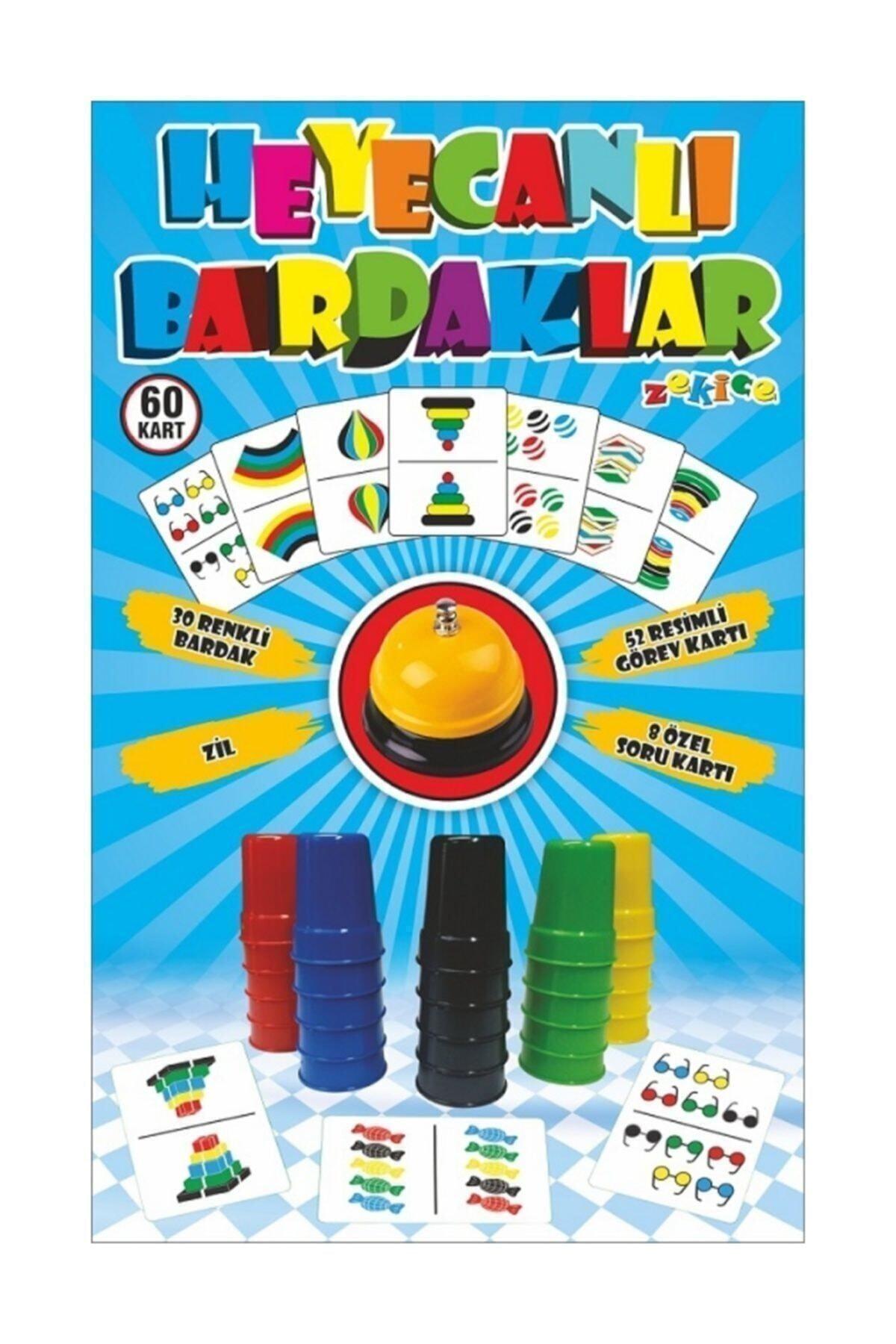 Zekice Heyecanlı Bardaklar Akıl Oyunu - Renkli Ve Pratik- Hızlı Bardaklar 1