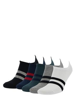 DeFacto Renk Bloklu 5'li Patik Çorap