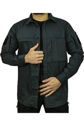 UNİFORMTÜRK Erkek Füme Uzun Kollu Gömlek