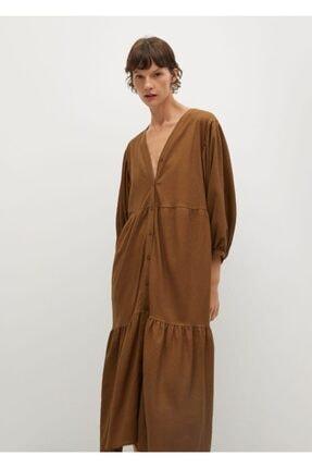 MANGO Woman Kalın Pilili Elbise