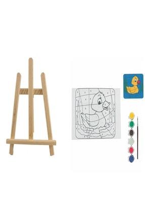 Ümraniye Hobi Sanat Mini Şövalyeli Tuval Boyama Seti 25x35 Bts2