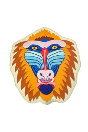 RUGSMODERN Desenli Çok Renkli Dekoratif Yıkanabilir Yuvarlak Halı Mira 840