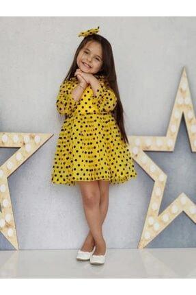 çocuk tarz giyim Puantiye Modası Sarı Ile Buluştu