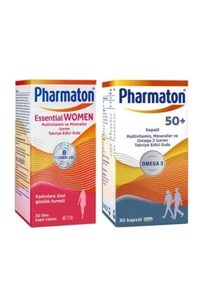 Pharmaton Essential Women 30 Kapsül + 50 Plus 30 Kapsül