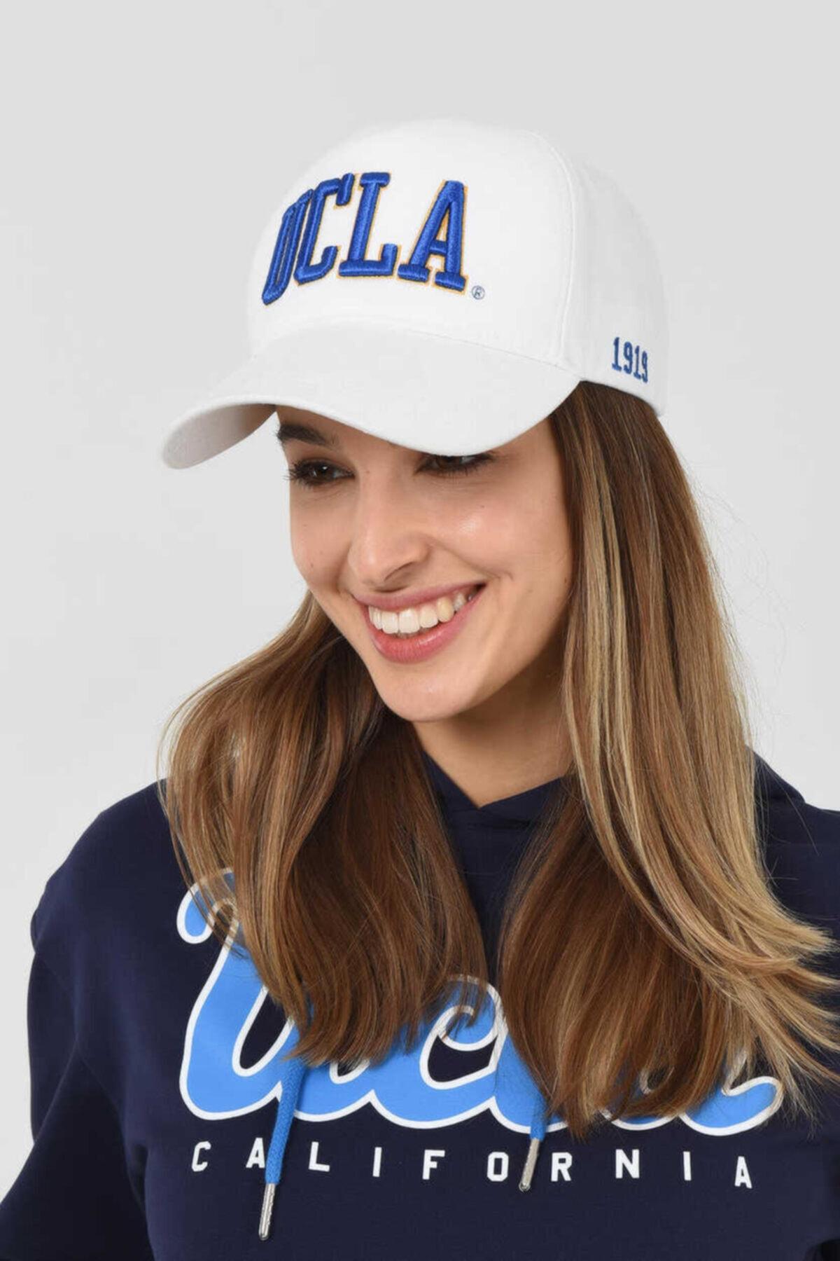UCLA Ranch Beyaz Baseball Cap Nakışlı Şapka 1