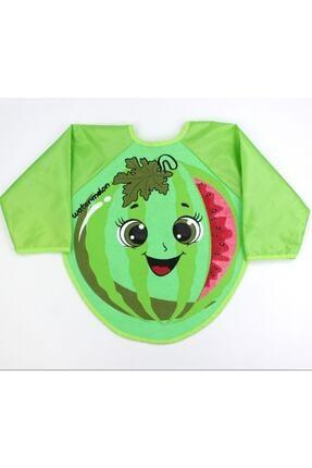 Buude Kids Karpuz (yeni) Motif Kollu Bebek Mama Önlüğü