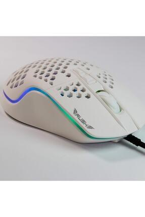 Rush Trepan Rm404 12.800 Dpı Rgb Oyuncu Gaming Mouse Beyaz