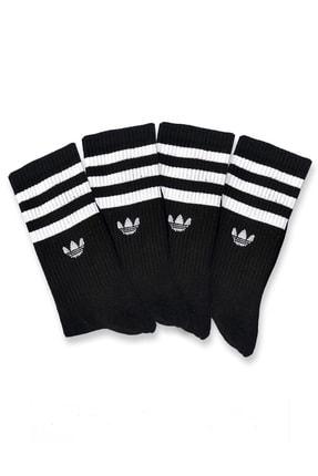 Pofudy Socks 4'lü Siyah&beyaz Atletik Çorap Setleri Pofudy
