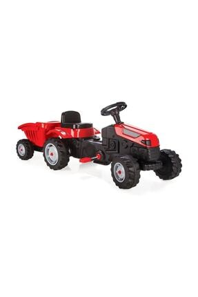 PİLSAN Active Römorklu Pedallı Traktör Kırmızı