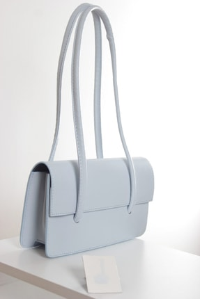 bag&more Kadın Bebe Mavisi Kapaklı Baget Çanta