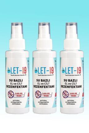 LET 19 3 Adet - 100ml Let-19 Hipokloröz El, Yüz Ve Cilt Dezenfektanı Antiviral-antibakteriyel-antifungal