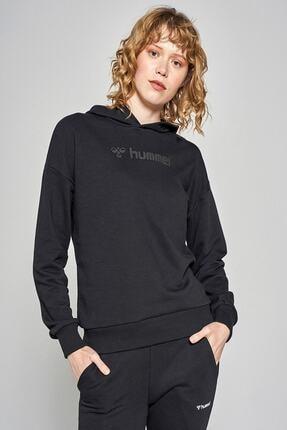 HUMMEL Kadın Siyah Damı Sweatshirt