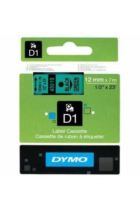 Dymo 12mmx7m Şerit Yeşil/siyah (d-45019)