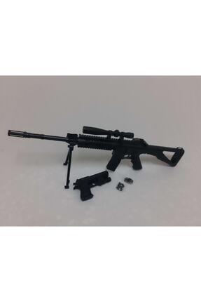 CAZİBE Boncuklu Lazerli Keskin Nişancı Tüfeği Oyuncak Plastik Lazer Tabanca Çatal Ayaklı