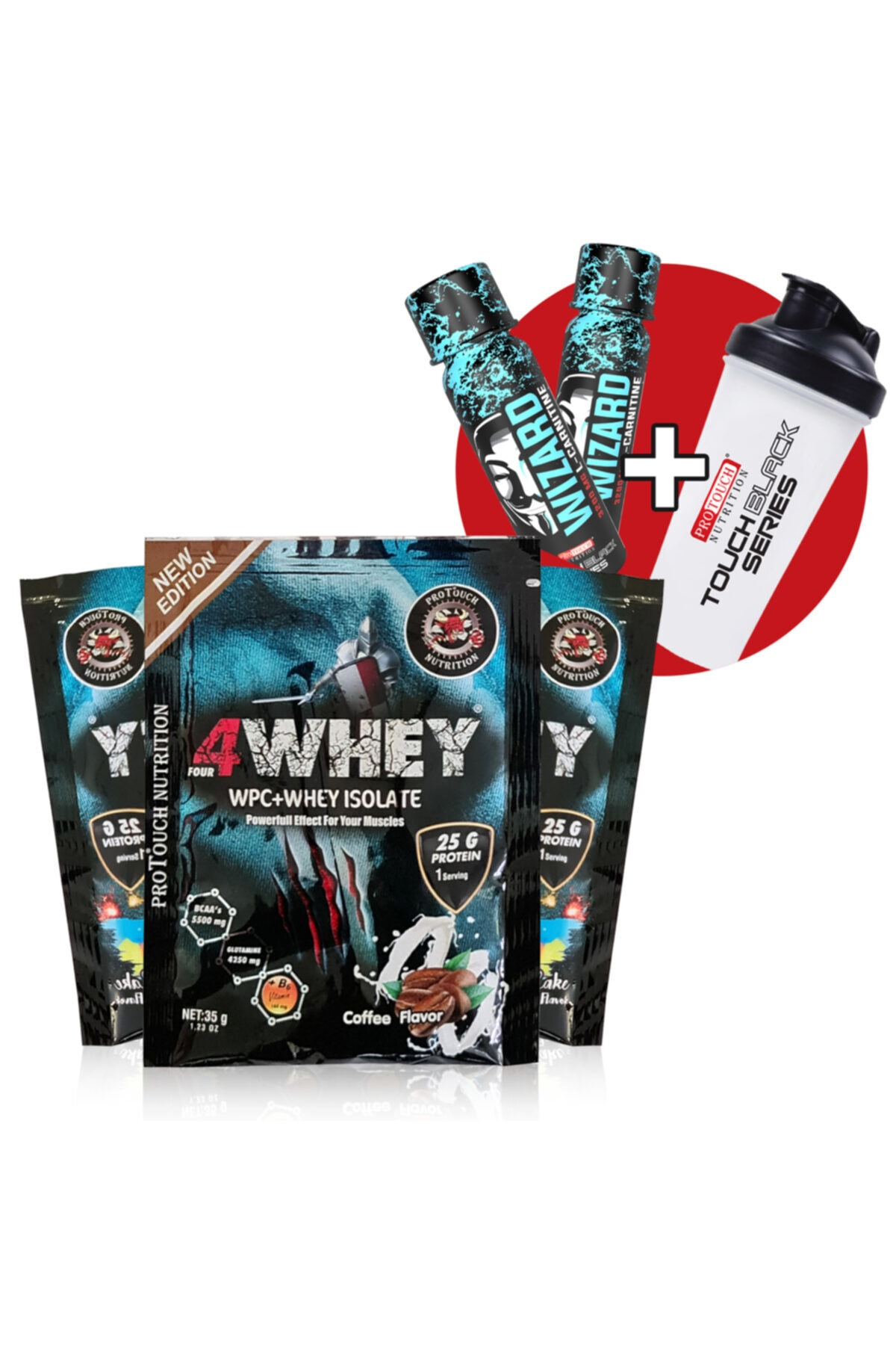 Protouch Nutrition Protouch 4whey Isolate 32 Gr 50 Şase - 25 Coffee + 25 Birthday Cake Aromalı 1