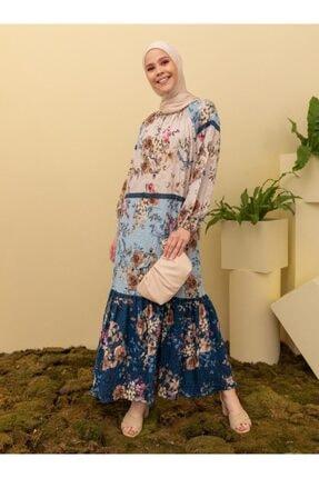 Loreen Kadın Lacivert Desenli Elbise