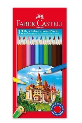 Faber Castell Kuru Boya 12 Renk Tam Boy 1 Adet