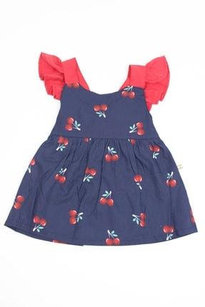 Bermiva Kız Bebek Kiraz Desenli Fırfırlı Elbise